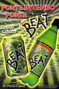 Mexico Advertising Postcard Nuevo BEAT Ponte Intenso Ponte, Sabor Citrico U42