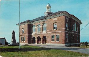 Chariton Massachusetts~Dexter Memorial Town Hall~Monument~1950s Postcard
