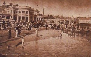 California Long Beach Bath House At Long Beach