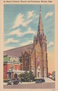 Ohio Maion Saint Marys Catholic Church And Parsonage