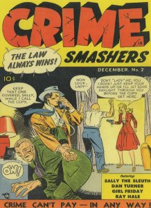 Crime Smashers 1950s Lady Hold Up House Robbery Comic Postcard