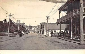 Caribou ME Street Vue Road Work Horse & Wagons Store Fronts RPPC Postcard