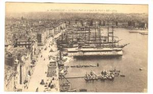 Le Vieux Port Et Le Quai Du Port, Marseille (Bouches-du-Rhône), France, 1900...