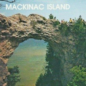 Arch Rock Straits Mackinac Island Michigan Limestone Carriage Tours Vintage
