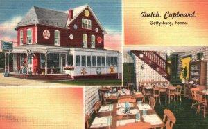 Gettysburg, Pennsylvania, PA, Dutch Cupboard Restaurant, Vintage Postcard g8999