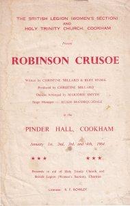 Robinson Crusoe Cookham British Legion Berkshire Old Theatre Programme