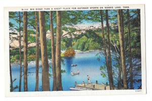 TN Big Ridge Park Norris Lake Tennessee Vntg Linen Postcard