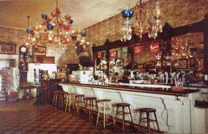 FAMOUS CRYSTAL BAR Virginia City, Nevada Saloon Interior ca 1950s Postcard