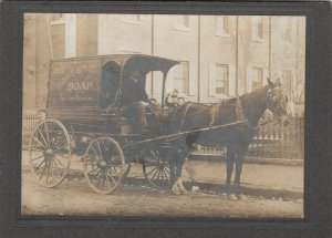 RP; Falck's Old Honesty Soap Chips Wagon , Pittsburgh, Pa. , 1890s