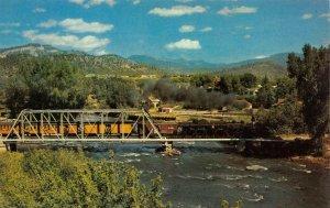Narrow Gauge Passenger Train Denver & Rio Grande Animas River Durango Postcard