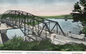 MA - East Northfield, Schell Memorial Bridge (Hand Colored)