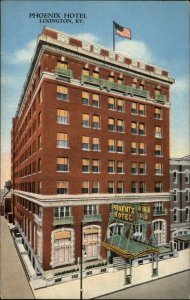LEXINGTON KY Phoenix Hotel Old Linen Postcard