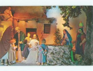 Pre-1980 JESUS WITH CHILDREN AT CHRISTUS GARDENS ATTRACTION Gatlinburg TN E6412