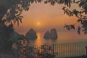 Capri Sunset Italian Postcard