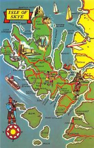 Isle of Skye Map, Duntulm Castle, Portree, Canna, Rum, Eigg, Muck, Islands