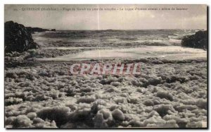 Old Postcard Quiberon (Morbihan) Kerne range one day the storm