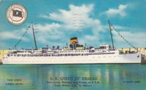 S S Queen Of Nassau 1956