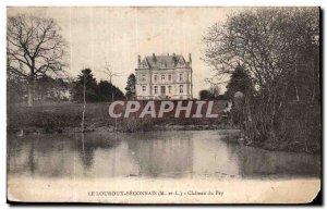 Old Postcard Le Louroux Beconnais the Chateau Pey