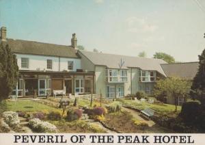 Peveril Of The Peak Hotel Derby Vintage 1970s Postcard