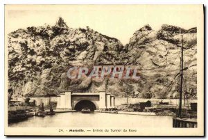 Postcard Old Marseille Entree of Rove Tunnel