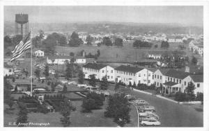 New Brunswick New Jersey~Camp Kilmer Post Headquarters~Water Tower~1950s Pc