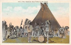 The Medicine Man Talks to the Chief Writing on back