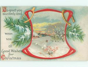 Divided-Back CHRISTMAS SCENE Great Postcard W9072