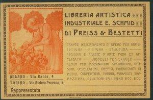 Lib1025 - CARTOLINA d'Epoca PUBBLICITARIA Illustrata - CORVAYA Libreria Artistic