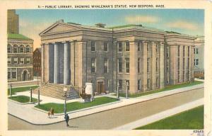 Public Library New Bedford Massachusetts MA 1952 Linen