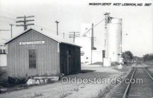 Wabash Depot, West Lebanon, IN, Indiana, USA Kodak Real Photo Paper Train Rai...
