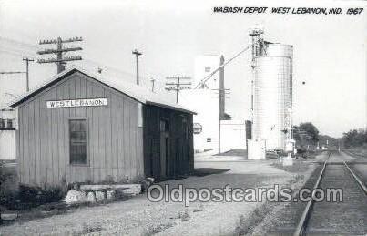 Wabash Depot, West Lebanon, IN, Indiana, USA Kodak Real Photo Paper Train Rai...