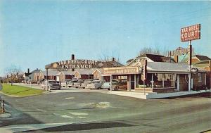 Rockingham NC Tar Heel Court on Hwy #1 Old Cars Postcard