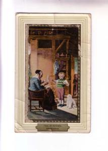 Kretschner, Little Boy Holding Wool, White Puppy, Max Ettlinger & Co, Printed...