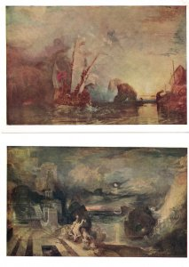 Turner The Parting Of Hero & Lender Ulysses 2x National Gallery Postcard s
