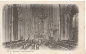 Somerset Postcard - Bath Abbey (Nave Looking West) - Ref 5531A