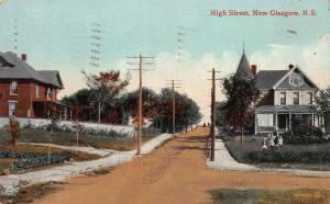 High Street, New Glasgow, Nova Scotia, Canada, Early Postcard, Used in 1914