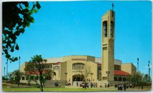 San Juan, Texas Postcard Virgen de San Juan el Valle Shrine Church c1960s