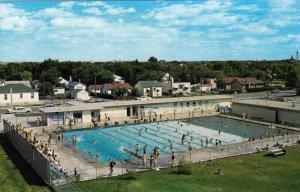 Aerial View, Swimming Pool, SASKATOON, Saskatchewan, Canada, 40-60´s