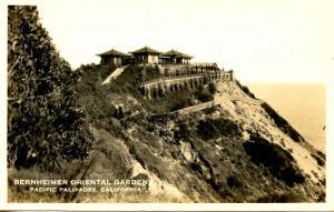 CA - Pacific Palisades. Bernheimer Oriental Garden - RPPC