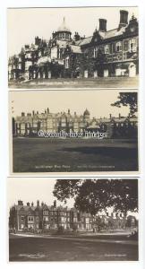 tq1640 - Norfolk - Sandringham House & Lawns, West Front - 3 Postcards