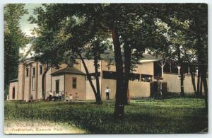 Colfax Iowa~Epworth Park Auditorium~Men Kids Outside~We'll Stay 2 Weeks~1912 PCK