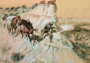Vintage Postcard Better Than Bacon By Charles Marion Rusell Tulsa Oklahoma Art