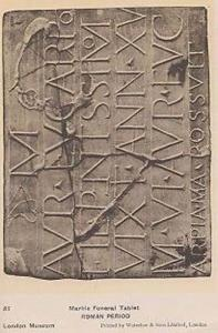 Rome Roman Marble Funeral Tablet Mural Encryption Antique Museum Rare Postcard