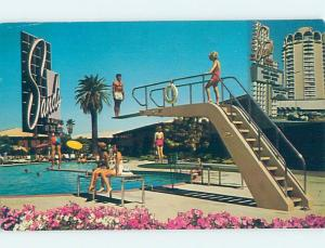 Pre-1980 DIVING BOARD AT THE SANDS CASINO HOTEL Las Vegas Nevada NV H0777