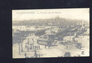 RPPC CONSTANTINOPLE TURKEY LE LE PONT STAMBUL BRIDGE OLD REAL PHOTO POSTCARD