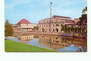 Postcard Wisconsin Kaukauna Thilmany Pulp Paper Company 1950s Cars  # 2853A