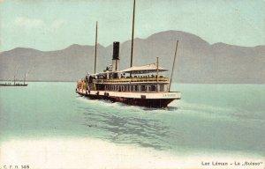 Switzerland Lac Leman La Suisse Postcard