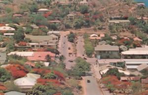 Port Moresby Papua New Guinea Aerial 1960s Postcard