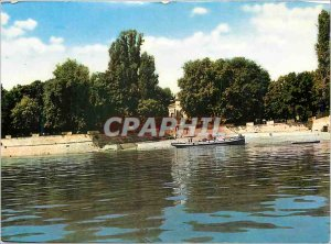 Modern Postcard The park and the Danube