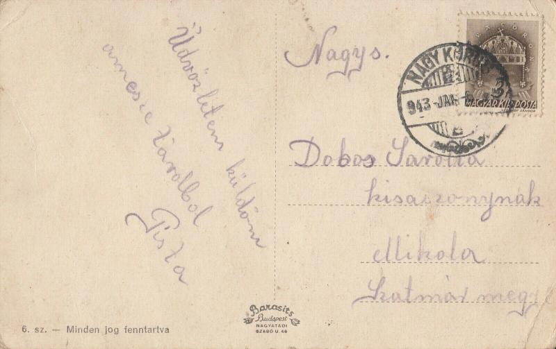 Hungary Nagykoros multi view 1943 postcard